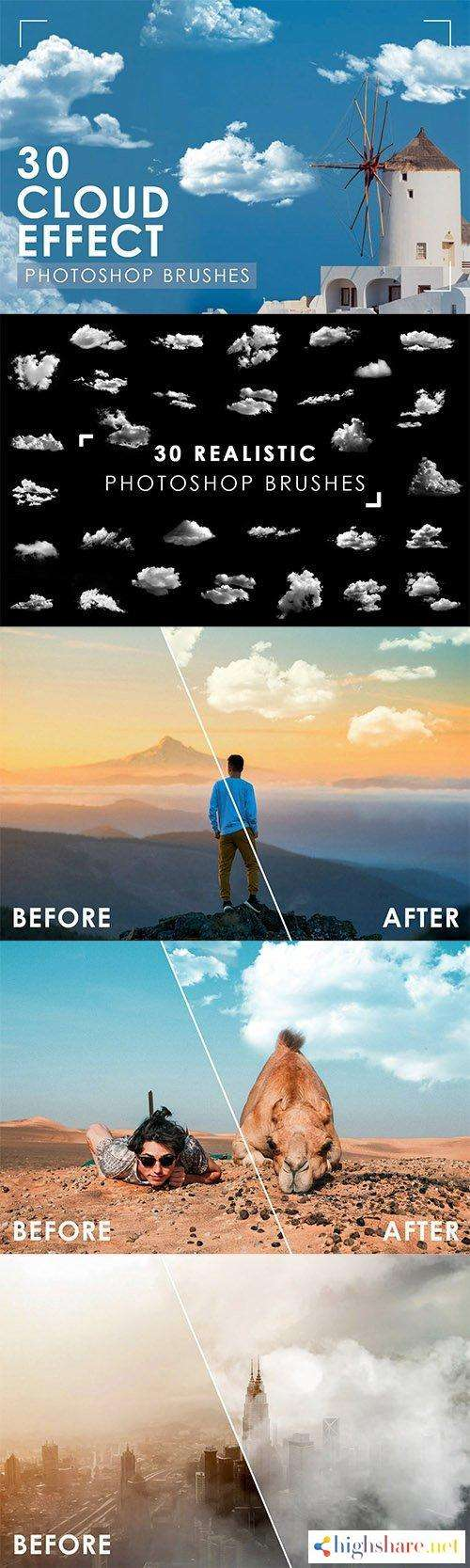 30 realistic cloud photoshop brushes 5f4a0e609245c - 30 Realistic Cloud Photoshop Brushes