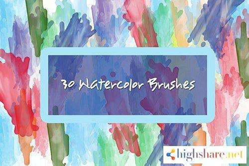 30 watercolor brushes 5f4a0ed6c07c3 - 30 Watercolor Brushes