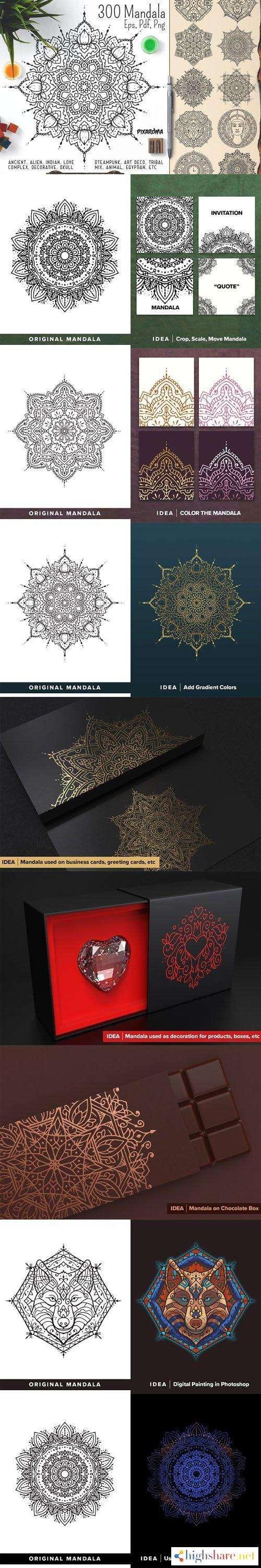 300 mandala ornaments in vector 5f47361460f77 - 300 Mandala Ornaments in Vector
