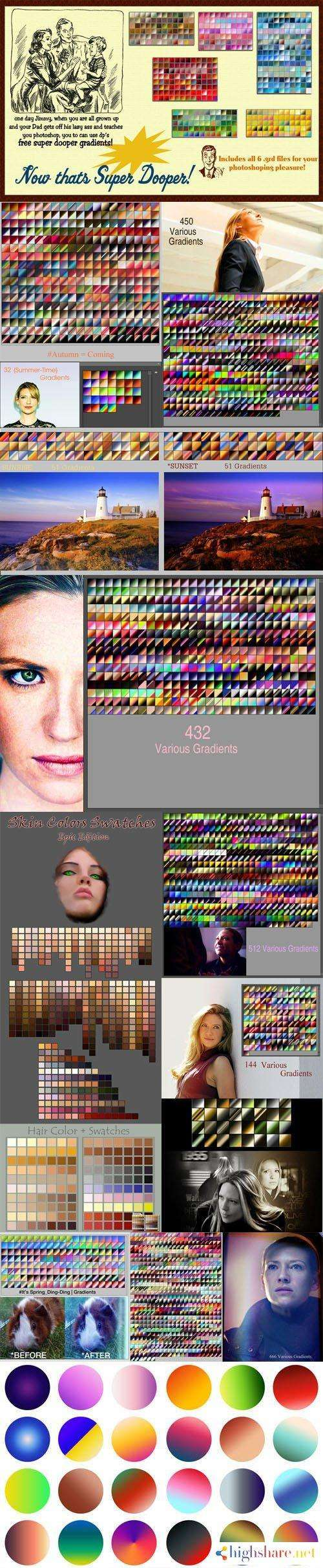 3000 awesome photoshop gradients grd swatches aco collection 5f49f6d44505f - 3000+ Awesome Photoshop Gradients (GRD) & Swatches (ACO) Collection