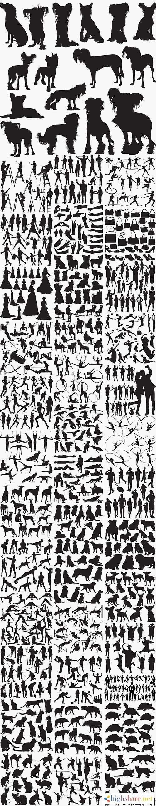 39 set in 1 bundle black silhouettes 5f42297589284 - 39 Set in 1 Bundle - Black Silhouettes