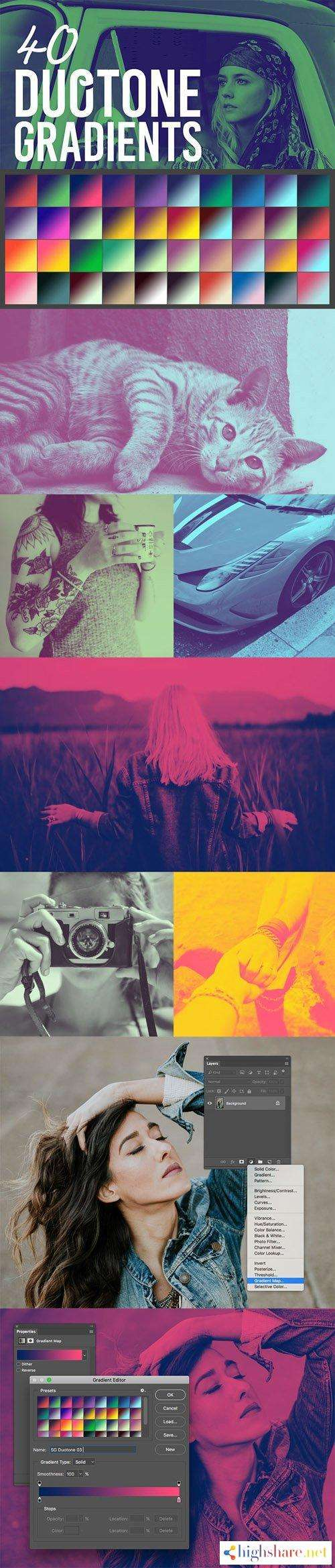 40 duotone gradient presets for photoshop grd 5f49f6aa62a91 - 40 Duotone Gradient Presets for Photoshop (GRD)
