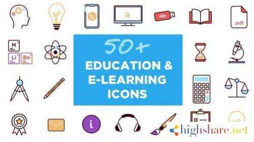 50 animated icons for education and e learning 26768071 videohive 5f4779517dbe2 - 50+ Animated Icons for Education and E-learning 26768071 Videohive
