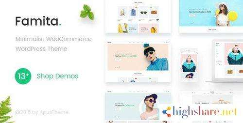 Famita Minimalist WooCommerce WordPress Theme v1.28