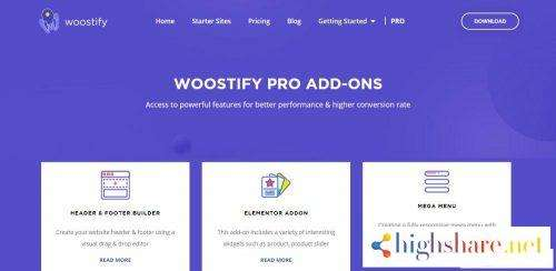 Woostify – Fast, lightweight, responsive and super flexible WooCommerce theme + Pro Addon V1.3.8 (Last Updated)