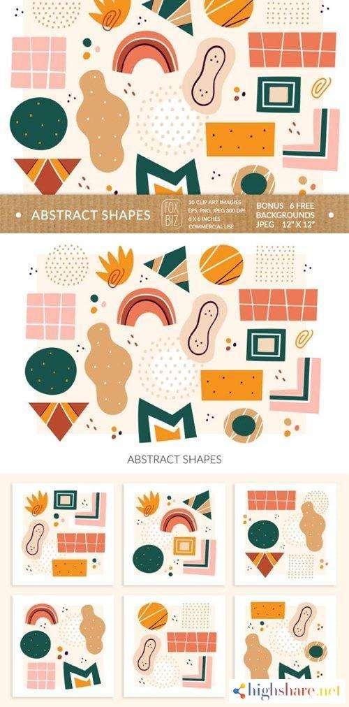 abstract shapes clipart digital prints 4030764 5f4a0742ac2cc - Abstract Shapes Clipart. Digital Prints. 4030764