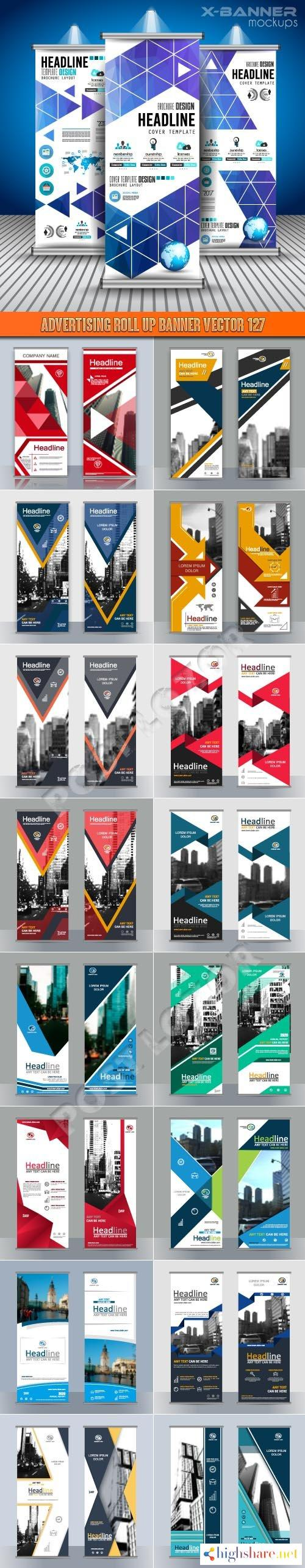 advertising roll up banner vector 127 5f3fb9b7a80a0 - Advertising Roll up banner vector 127