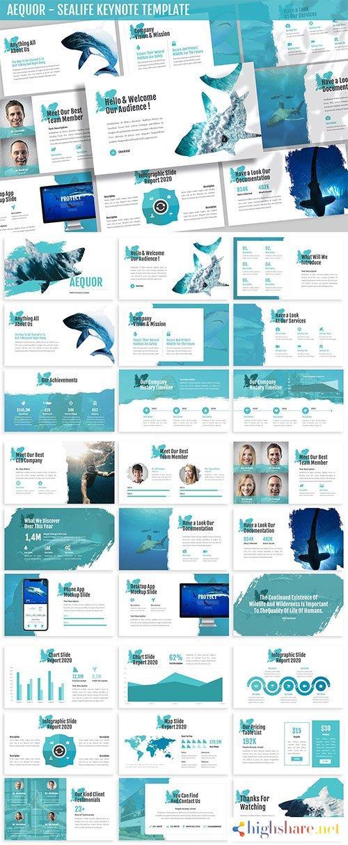 aequor sealife keynote template 5f407e379e49a - Aequor - Sealife Keynote Template