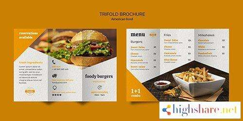 american fast food and fries combo trifold psd brochure 5f41f0fd5d579 - American fast food and fries combo trifold PSD brochure