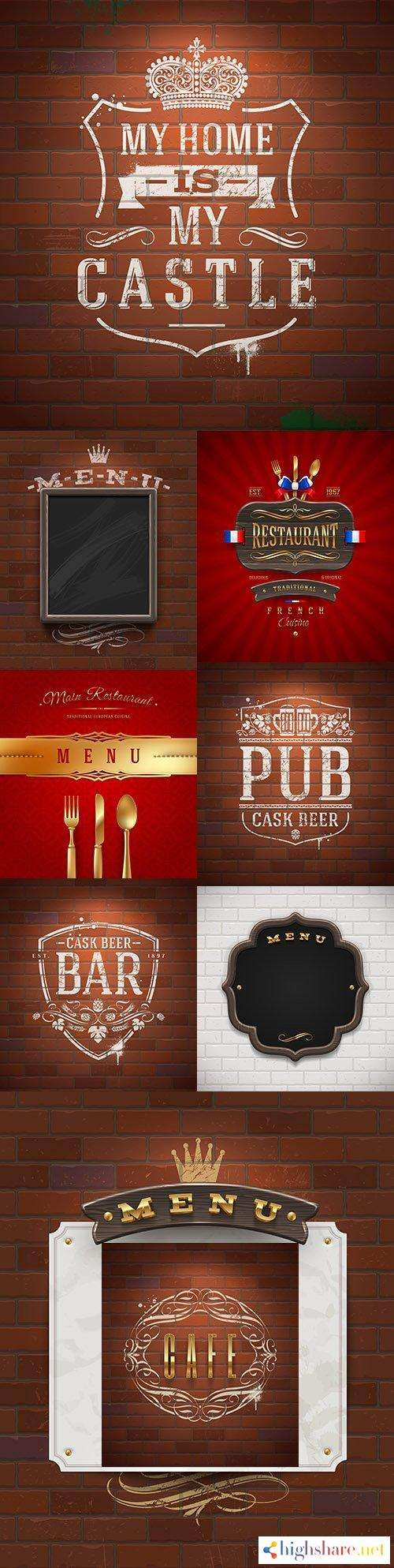 bar and menu painted with white paint on brick wall 5f41ffe63698b - Bar and menu painted with white paint on brick wall
