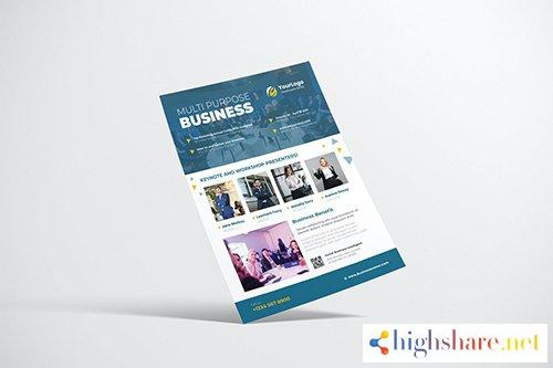 business event flyer design with blue color 5f4099b7f1b46 - Business Event Flyer Design with Blue Color