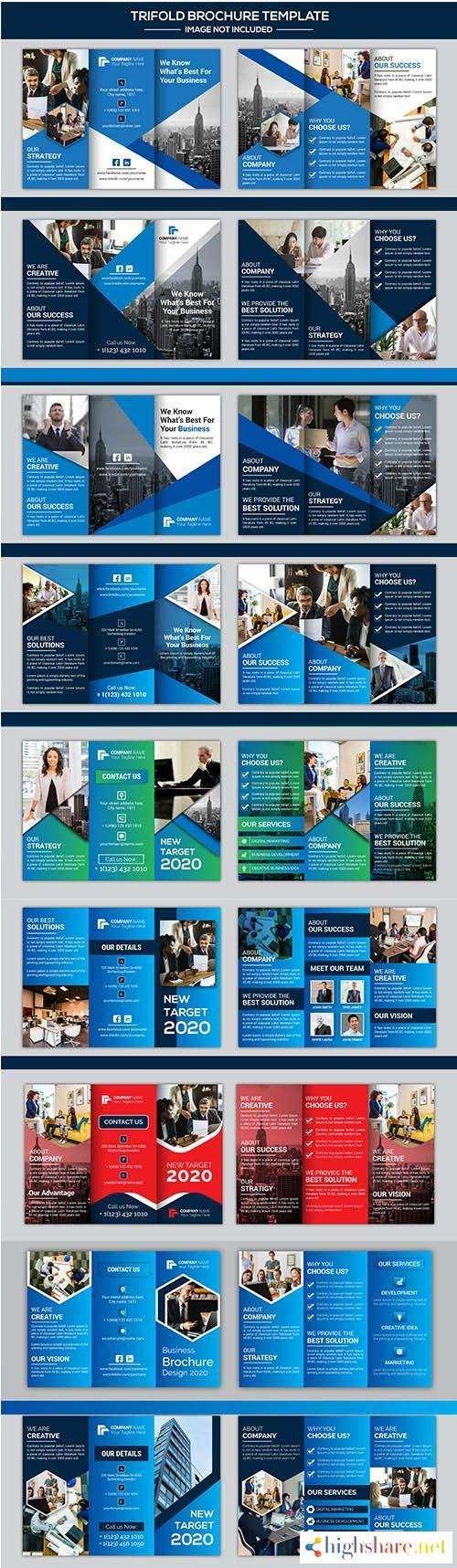 company business trifold brochure set 5f41f16c19e34 - Company Business Trifold Brochure Set