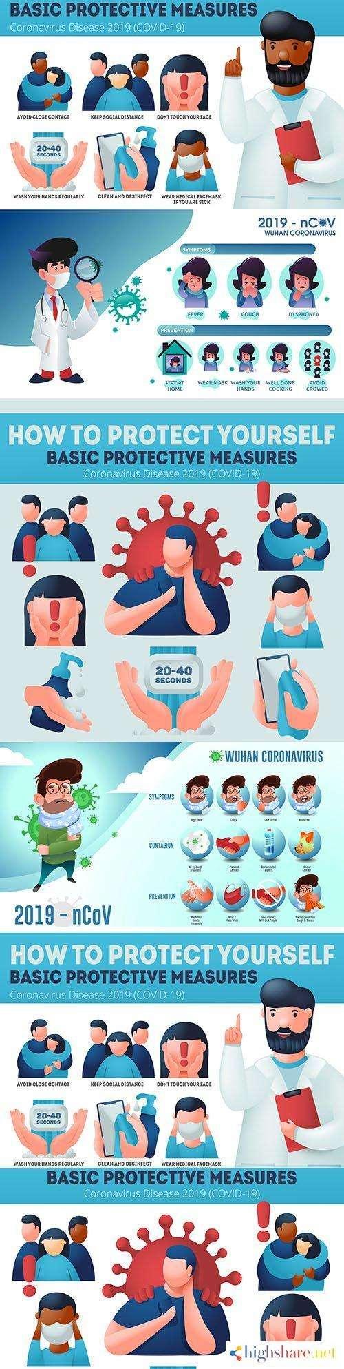 coronavirus prevention covid 19 and infographic protection measures 5f41d7b7ed20e - Coronavirus prevention covid-19 and infographic protection measures