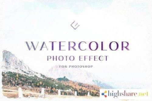 creativemarket watercolor photo effect 4970039 5f44ef0b2340b - CreativeMarket - Watercolor Photo Effect 4970039