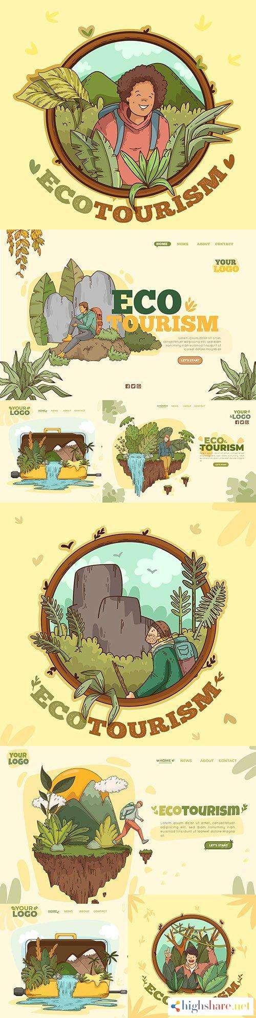 eco tourism template landing page design 5f452ebcb6e6e - Eco tourism template landing page design