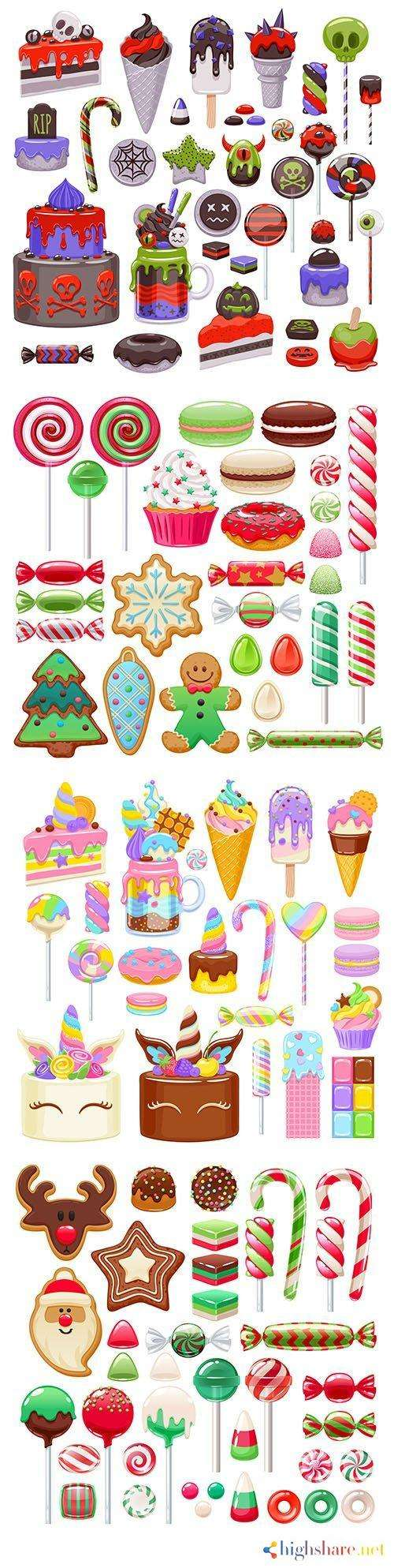 festive sweets assorted from candy and cookies 5f41ffcb810e1 - Festive sweets assorted from candy and cookies