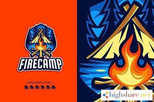 fire camp emblem logo 5f430d01b9a89 - Fire Camp Emblem Logo