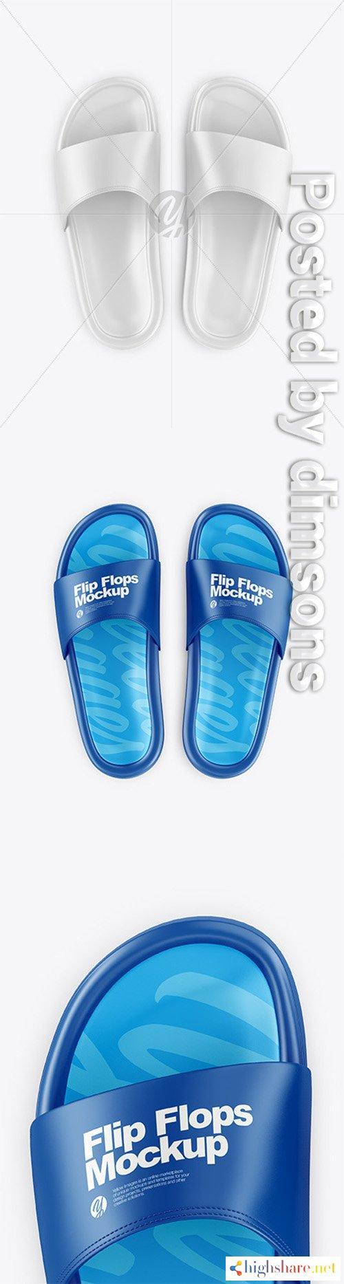 flip flops mockup top view 64459 5f40b7875d35c - Flip Flops Mockup - Top View 64459