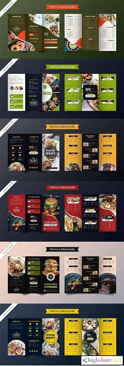 food trifold brochure template menu restaurant 5f41ffc22a370 - Food Trifold Brochure Template Menu Restaurant