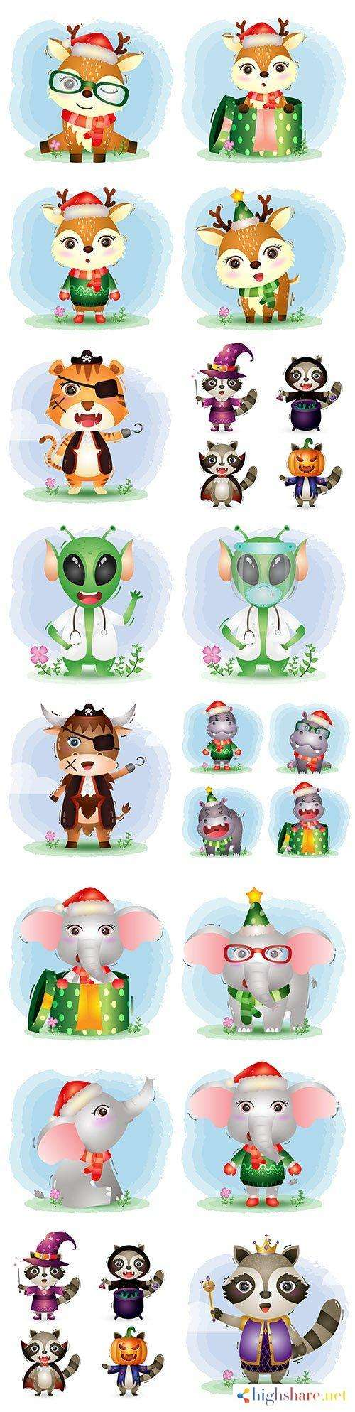 funny painted animals in carnival costumes for holiday 5f412e9b9edd3 - Funny painted animals in carnival costumes for holiday