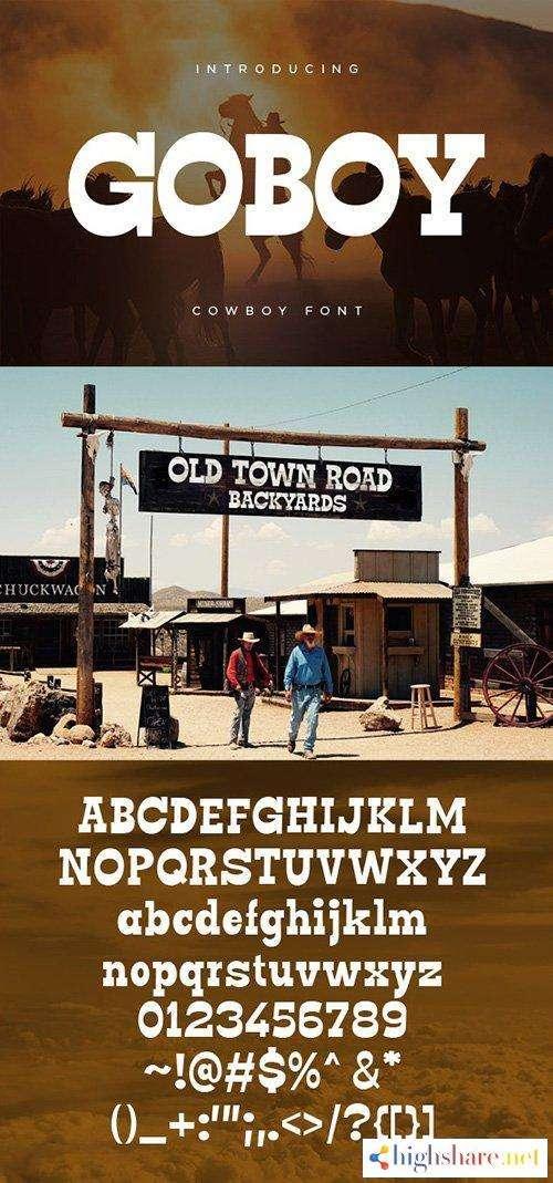 go boy cowboy font 5f43a5af21009 - Go Boy - Cowboy Font