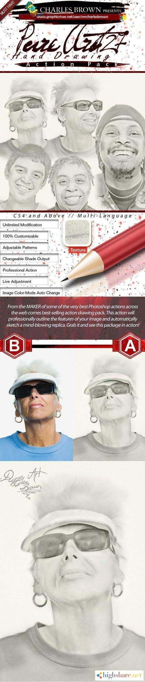 gr pure art hand drawing 127 golf pencil 5f4a0d9a31af1 - GR - Pure Art Hand Drawing 127 - Golf Pencil