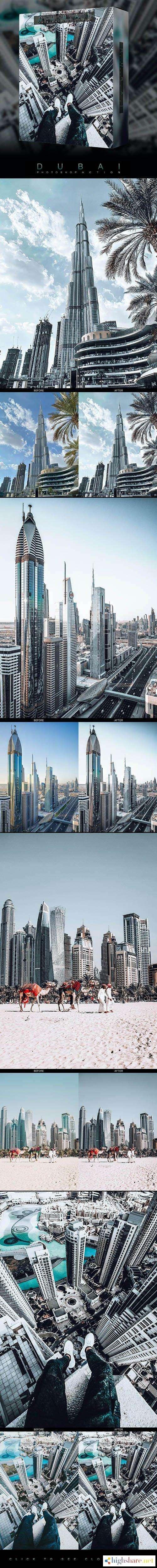 graphicriver famous citys dubai photoshop action 26697077 5f44ee4345f49 - GraphicRiver - Famous City's / DUBAI - Photoshop Action 26697077