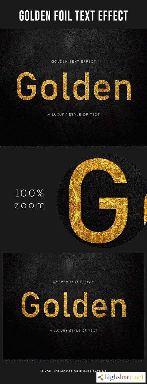 graphicriver gold foil text effect 28006222 5f49c2156d07f - GraphicRiver - Gold Foil Text Effect 28006222
