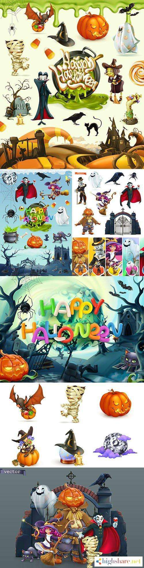 happy halloween and cartoon heroes 3rd realistic illustrations 5f452e6eac32c - Happy Halloween and cartoon heroes 3rd realistic illustrations