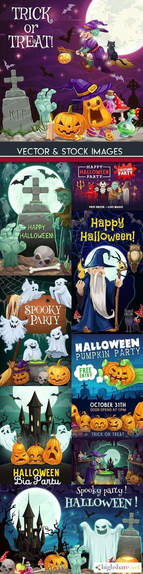 happy halloween holiday cartoon illustration collection 22 5f4d01c8168c6 - Happy Halloween holiday cartoon illustration collection 22