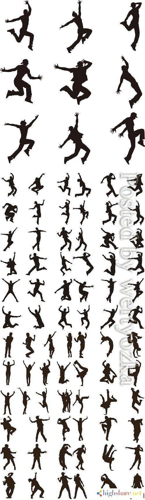 happy people vector silhouettes 5f4229e5a513d - Happy people vector silhouettes