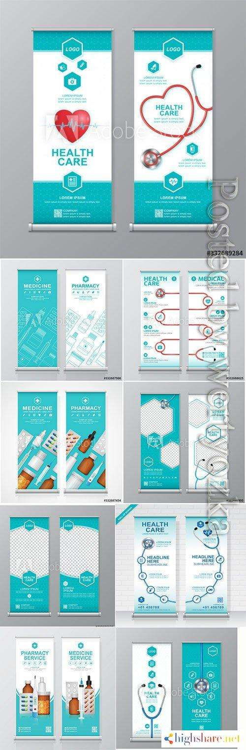 health care and medical roll up design 5f41d77aeeed0 - Health care and medical roll up design