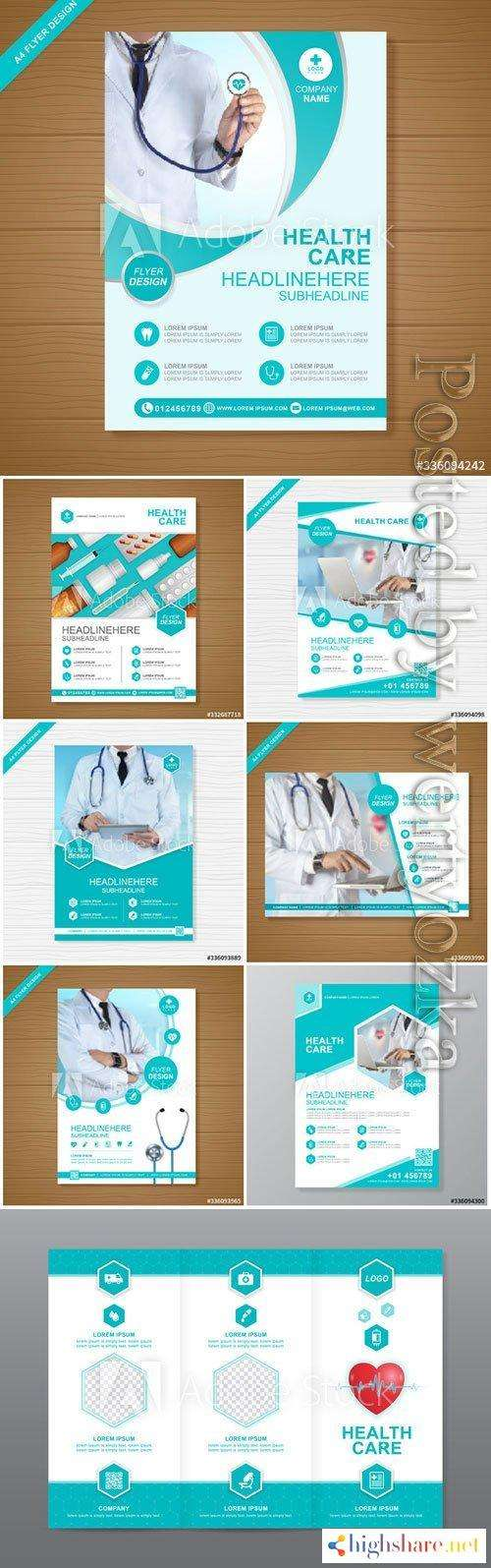 health care cover a4 template design for a report and medical brochure 5f41d79f2655f - Health care cover a4 template design for a report and medical brochure
