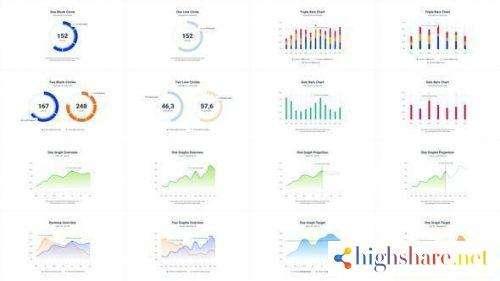 infographics charts pack 2 25986235 videohive 5f479b2ac934b - Infographics Charts Pack 2 25986235 Videohive