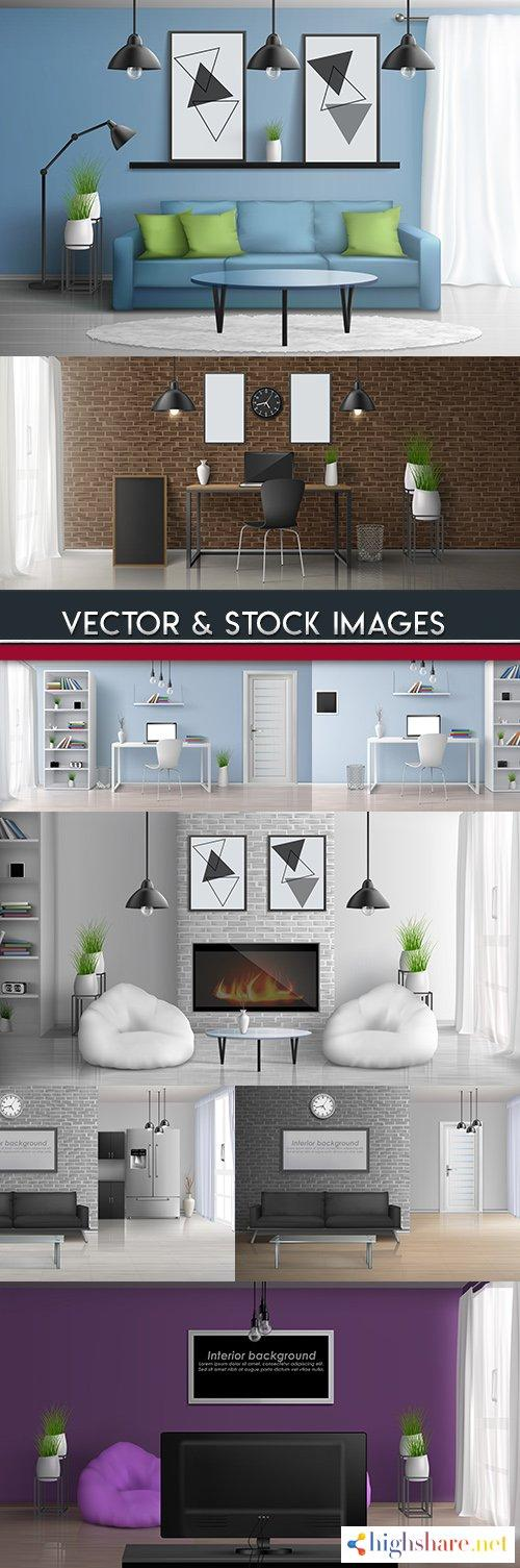 interior room and furniture 3d realistic illustrations 5f40c74c0f10e - Interior room and furniture 3D realistic illustrations