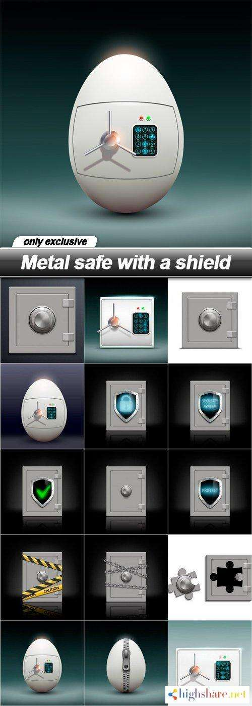 metal safe with a shield 15 eps 5f4213721e3e4 - Metal safe with a shield - 15 EPS