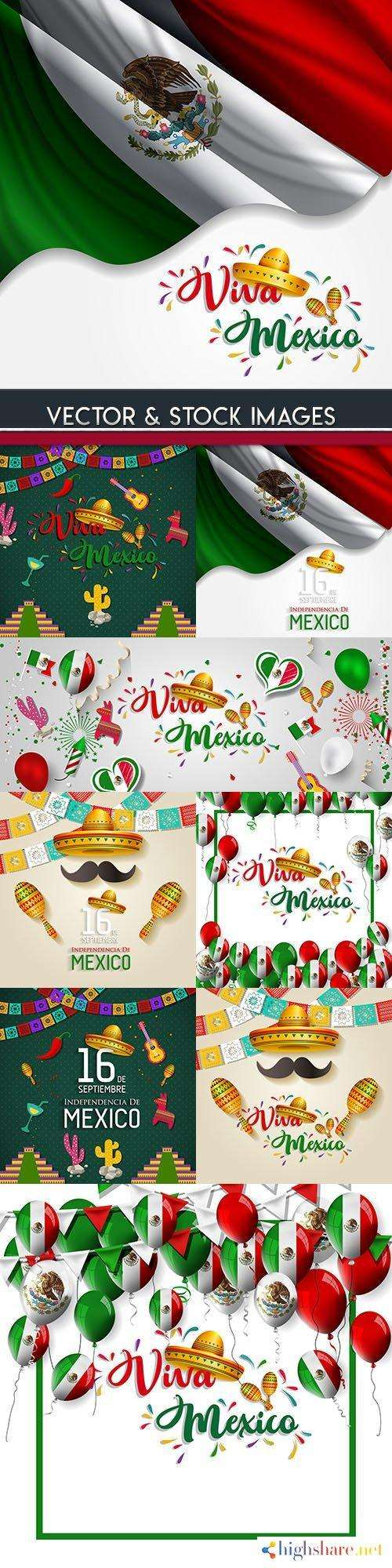 mexico national day and viva mexico illustration design 5f4d019e73b76 - Mexico national day and Viva Mexico illustration design