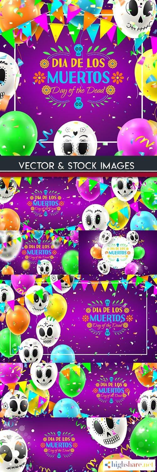 muertos holiday mexico decorative cartoon illustration 5f3fc244a222a - Muertos holiday Mexico decorative cartoon illustration
