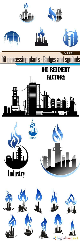 oil processing plants badges and symbols 5f40c9c24f7f0 - Oil processing plants - Badges and symbols