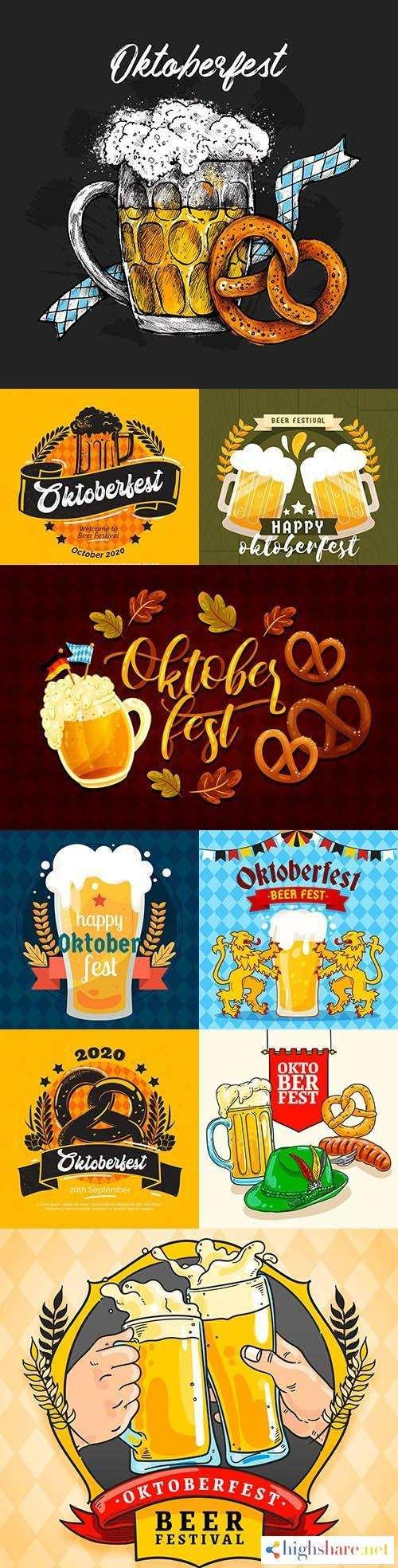 oktoberfest beer festival flat design illustration 5 5f4200c918924 - Oktoberfest Beer Festival Flat Design Illustration 5