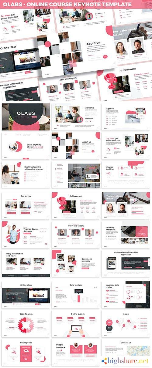 olabs online course keynote template 5f407df1cb638 - Olabs - Online Course Keynote Template