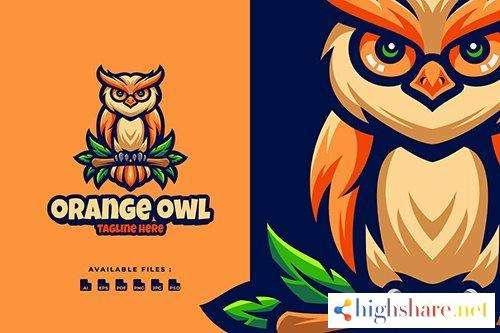 orange owl character logo 5f430d277a83a - Orange Owl Character Logo