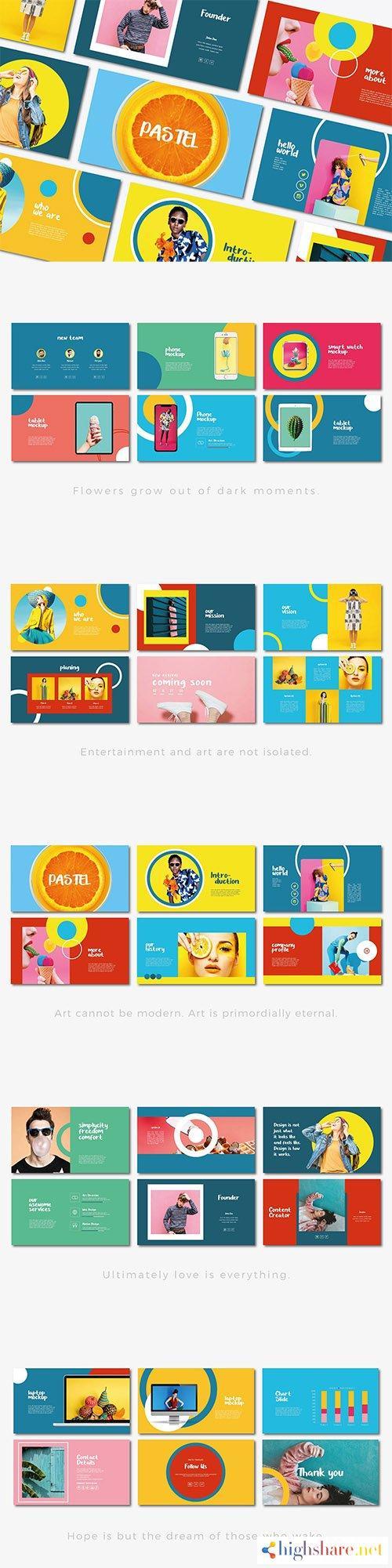 pastel powerpoint keynote and google slides template 5f3b9b9628e25 - Pastel | Powerpoint, Keynote and Google Slides Template