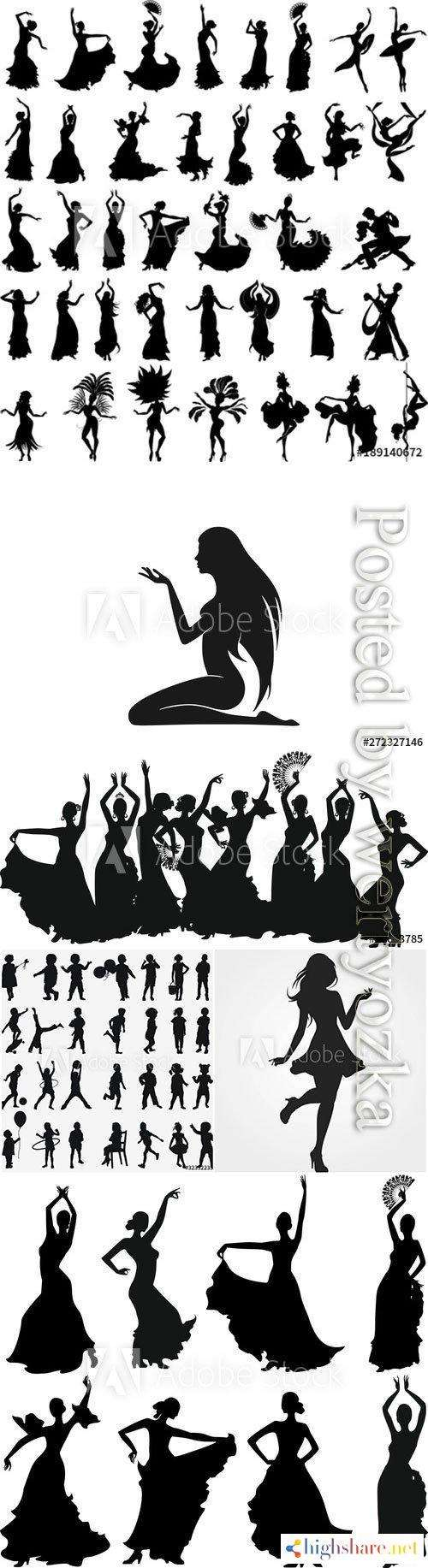 people silhouettes in vector 5f422999bce1a - People silhouettes in vector