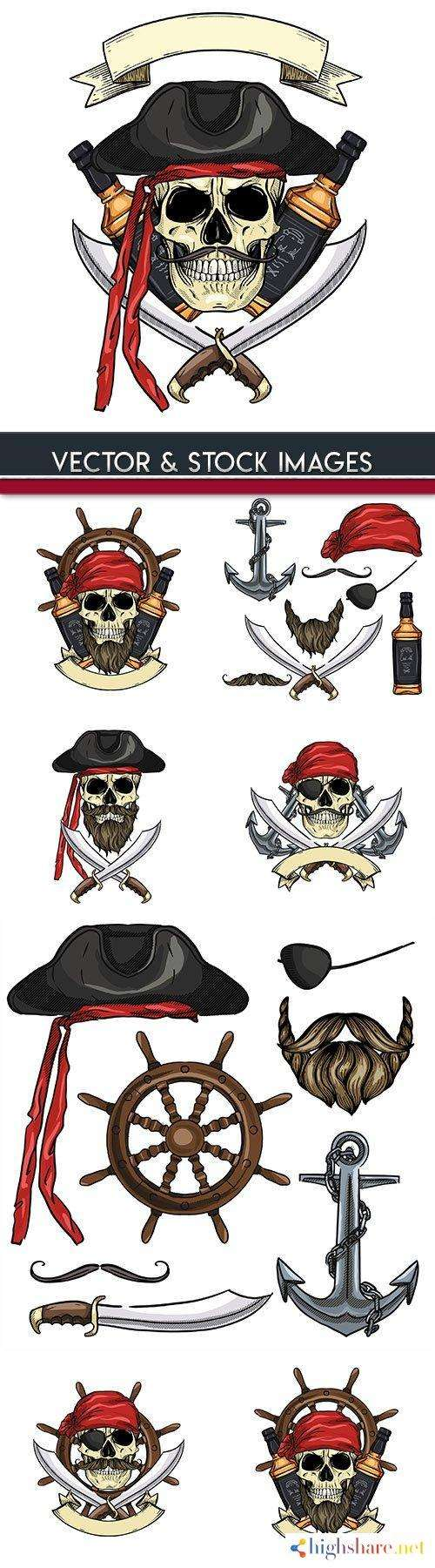 pirates and weapons with clothing painted illustrations 5f427165676a1 - Pirates and weapons with clothing painted illustrations