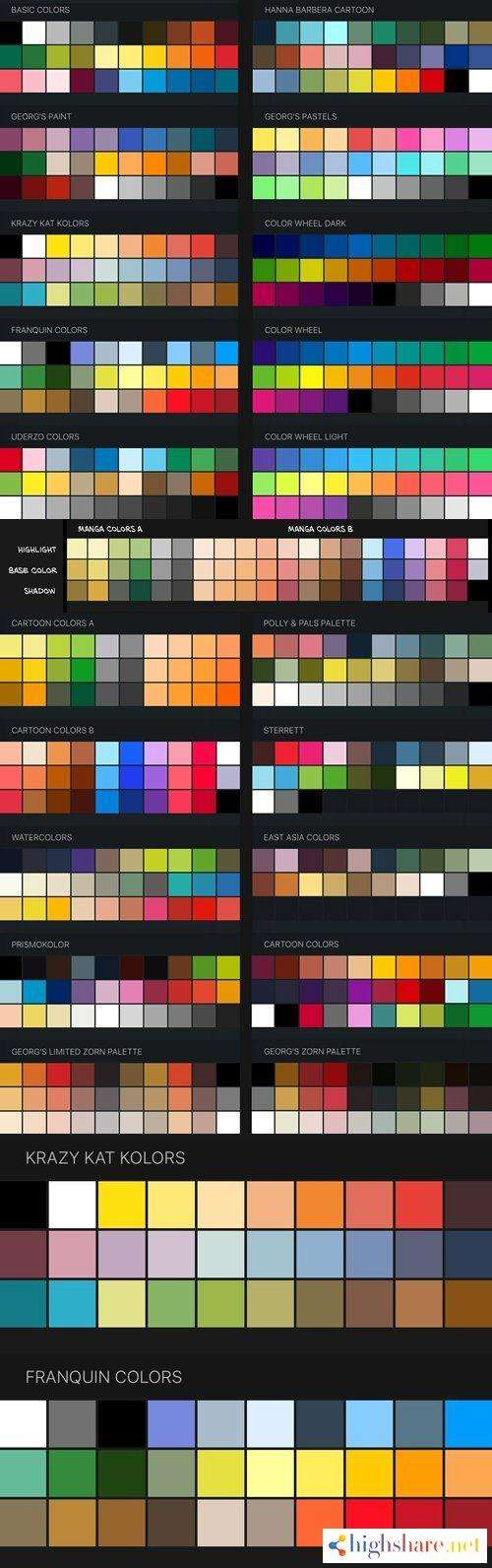 procreate color swatches 22 palettes for painting and drawing 5f49f77d54add - Procreate Color Swatches: 22 Palettes for Painting and Drawing