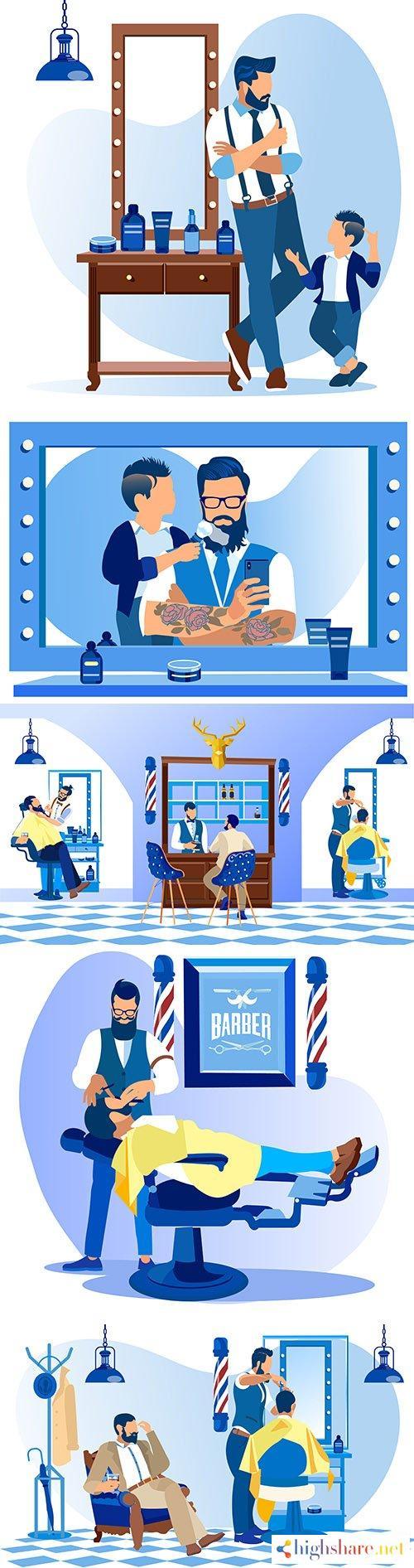 professional beauty salon men s hair salon illustration 5f409659d44a0 - Professional beauty salon, men 's hair salon illustration