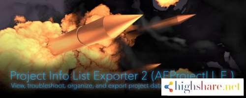 project info list exporter 2 aescript2 1 0 version dec 4 2018after effects cc 2019 cc 2018 cc 2017 cc 2015 3 cc 2015 cc 2014 5f492143c7ffe - Project Info List Exporter 2 (Aescript)2.1.0