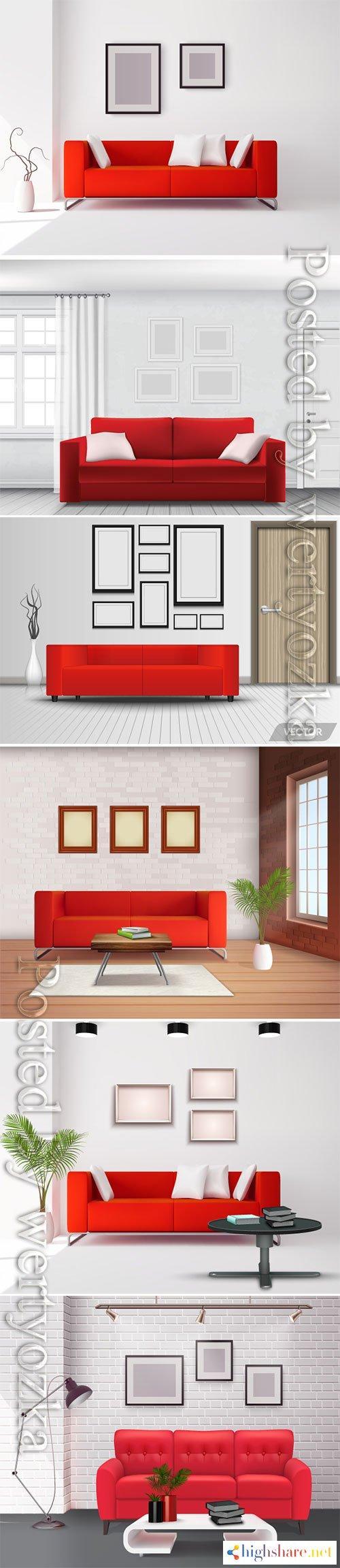 realistic home interior vector template 2 5f3feabdb35f5 - Realistic home interior vector template # 2
