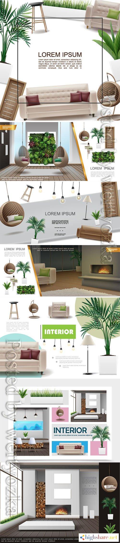 realistic home interior vector template 3 5f3feae020ec2 - Realistic home interior vector template # 3